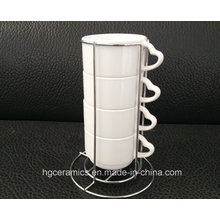 Taza Strackable, taza de la sublimación 4PCS / Set
