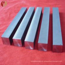 Barra cuadrada de titanio Gr2 para uso industrial