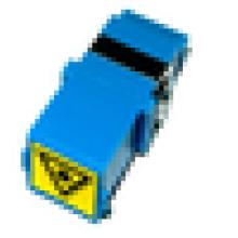 SC / PC para SC / PC Simplex Modo único com obturador aberto Adaptador de fibra óptica de plástico