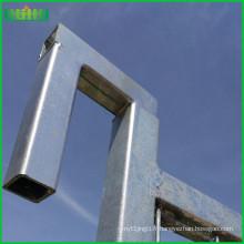 Clôture temporaire galvanisée (usine) iso 9001 14001 clôture temporaire pour le canada