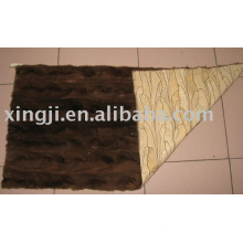top quality naural brown color mink fur plate golf style