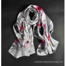 New arrival whosale digital print women turkish silk scarf