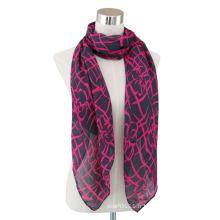 Lady Fashion en coton imprimé longue écharpe en voile (YKY4065)