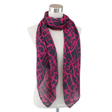 Lady Fashion Cotton Voile Printed Long Scarf (YKY4065)