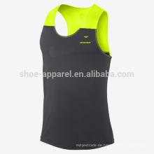 Laufendes Trägershirt der Männer 100% polyeater Mens