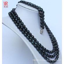 Мода черный природный жемчуг Neckace браслеты наборы (ES1317)