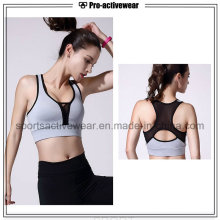 OEM Venta al por mayor hecha a medida de las mujeres aptas secas Wicking Sublimation Mesh Sports Bra
