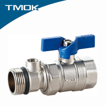 China Manufacturer Brass Ball Valve Plate with Nickel Long or Butterfly Handle in TMOK