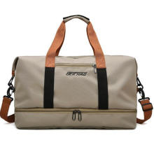 Waterproof Gym Bags Customized Logo Duffle Bag Double Layer Travel Bag with Separate Bottom Compartment