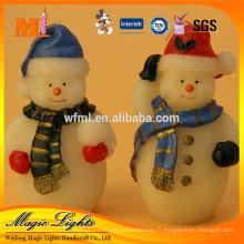 Bougie de Noël colorée conçue pour l'utilisation de vacances