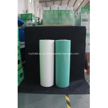 Rollo de plástico ensilaje verde ancho750mm