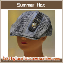 Ladies Cotton Hat with Metal