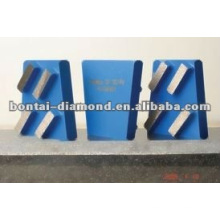 Herramienta de diamante / 4 segmentos Bloque de cuña de diamante para la molienda de concreto