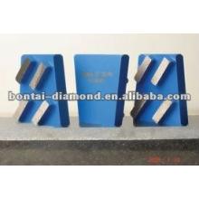 Outil de diamant / 4segment Bloc de diamant pour meulage de béton