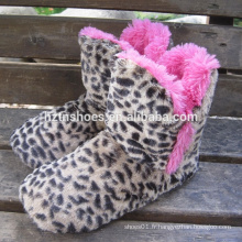 Leopard plush home boot zebra plush home boot pretty home boite pour femme