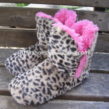 Leopard plush home boot zebra plush home boot pretty home boot for women