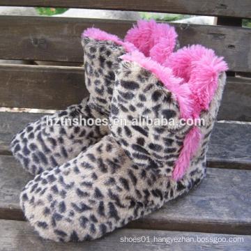 Leopard plush home boot zebra plush home boot pretty home boot for women