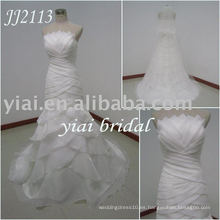 2010 más reciente más impresionante nuevo vestido de boda de llegada real JJ2113