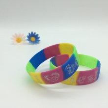 Rainbow Segmented Color Silicone Bracelet
