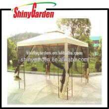 deluxe steel metal tube fabric roof garden tent, gazebo mosquito netting
