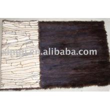 Plaque de ferraille de fourrure de vison