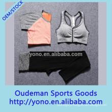 Venda quente elegante mulheres fitness esporte yoga sutiã e calça