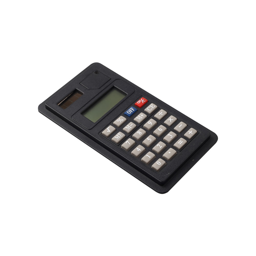 Dual Power 8 Digits Small Size Thin Pocket Calculator