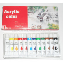 12 pcs Acrylic Paint define imagens Color Paint water paint