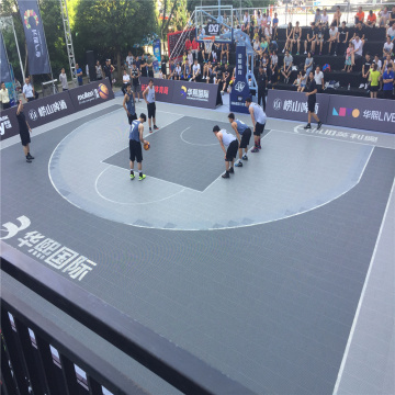 Utomhus Basketballplan Golv Interlocking Court Tiles