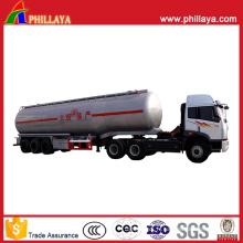 Réservoir d'acier inoxydable d'huile / remorque semi-remorque de carburant avec le volume facultatif