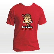 New design 2014-15 season EPL club team liverpool soccer fan Gerrard cartoon t-shirts