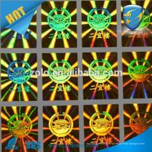 Anti-tamper Selating Custom Print etiqueta de etiqueta holográfica / hologramas de segurança fabrica