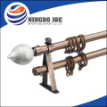 Noble Transparent Polyresin Finial Metal Curtain Rod