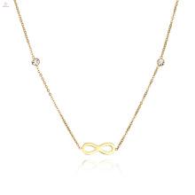 Zierliche Crystal Infinity Halskette für Frauen und Mädchen