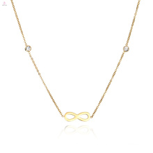Dainty Crystal Infinity Necklace For Women And Girls