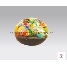 Colorful Wish Ball Glass Paperweight