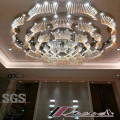 Morden and Big Size Flower Round Hotel Luxury Crystal Pendant Lamp