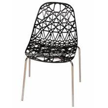 Дешевые цены пластиковый стул с металлической рамкой металла не складной стул