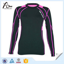 Slim Fit Running Shirts Ladies Gym Wear for Wholesale