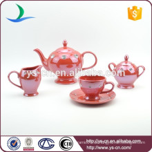 Keramik Red Coffee Set Großhändler In China