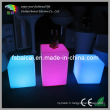 Ensemble de table et de chaise LED Cube (BCR-161C, BCR-114C)
