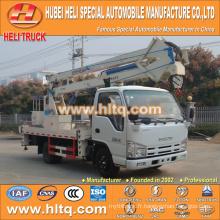 Technologie japonaise 4 * 2 14m 16m camion aérien avec panier unique cab14M bonne qualité vente chaude
