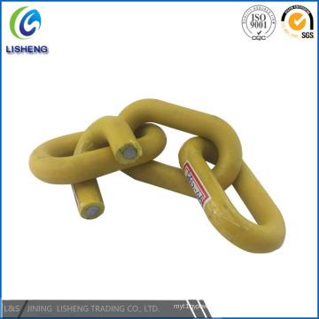 Cadena de enlace de acero recubierto de plástico del precio de fábrica