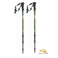 2 x Compass Trekking Retractable Hiking Stick Alpenstock Anti Shock Walking