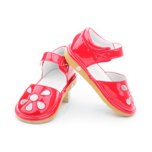 New Fashion Style Flat Baby Girls Toddler Squeaky Shoes