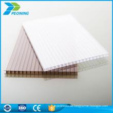 China zuverlässige Herstellung weißes Polycarbonat Zwillingswand PC Hohlblatt
