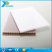China confiable fabricación blanco policarbonato pared gemela pc hoja hueca