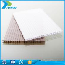 China fabricação confiável policarbonato branco parede gêmea folha oca oca