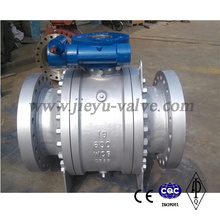 API6d Cast Body Carbon Steel Wcb 3 Pieces Flanged Trunnion Mounted Ball Valve
