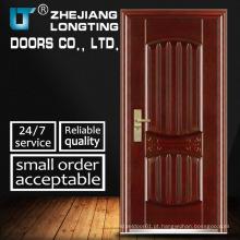 Novo design de porta de metal de segurança de aço